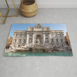 Trevi Fountain at early morning - Rome, Italy Rug