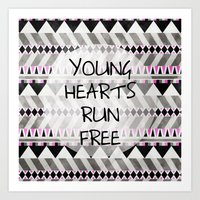 Young Hearts Art Print