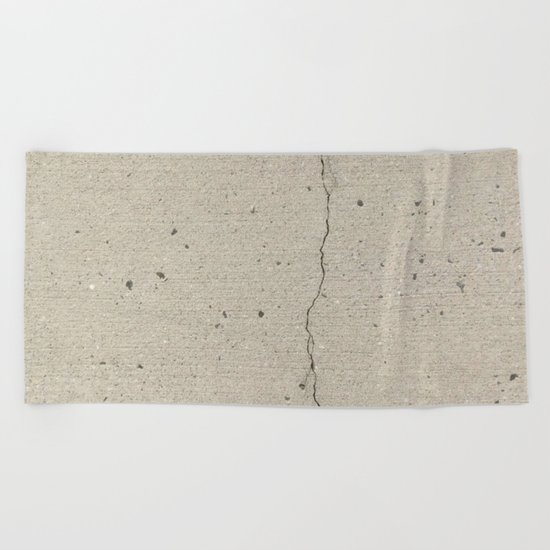 Real, Concrete, not Abstract Beach Towel