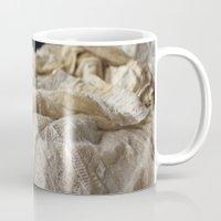 lace Mugs featuring Lace by Jillian Audrey
