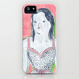 the girl is waiting iPhone Case
