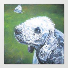 beautiful BEDLINGTON TERRIER dog art portrait  an original painting by L.A.Shepard Canvas Print