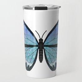 aquamarine Hera (Heros agmarine) fantasy butterfly Travel Mug