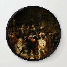 Rembrandt van Rijn - Nightwatch - Nachtwacht (1642) Wall Clock