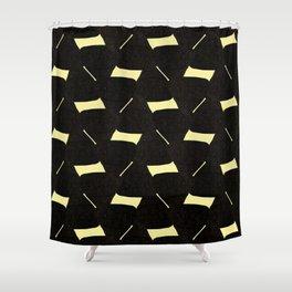 Retro vintage brown geometric mid-century modern pattern Shower Curtain