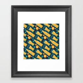 October Fest Pattern Framed Art Print