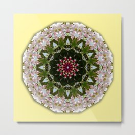 Floral mandala-style, Spring blossoms 001.1 Metal Print