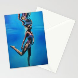 Dancing in the blue abyss Stationery Cards