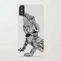 dragon iPhone & iPod Cases featuring Dragon by eva vasari
