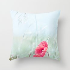 Thoughtful Poppy Throw Pillow