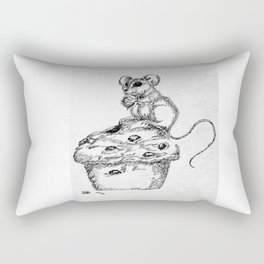 """""""Blueberry Muffins are the Best"""" Mouse and muffin sketch Rectangular Pillow"""