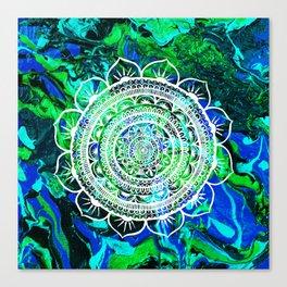 Lucid Liquid Acacia Aquamarine Canvas Print