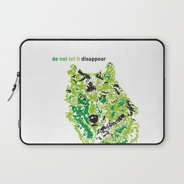 Wolf - do not let it disappear Laptop Sleeve
