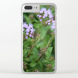 September Wildflowers Clear iPhone Case