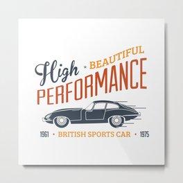 Vintage British Sport Car Metal Print