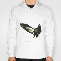 eagle Hoodies featuring Eagle by Yaroslav Greb