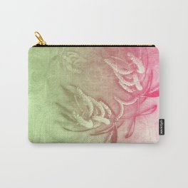 Pink and green wattle and kaleidoscope Carry-All Pouch