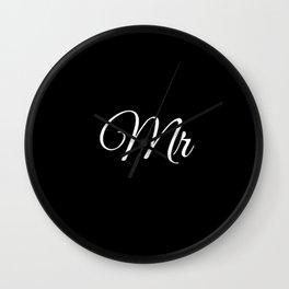 Mr (Black) Wall Clock