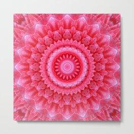 Mandala Rose petals Metal Print