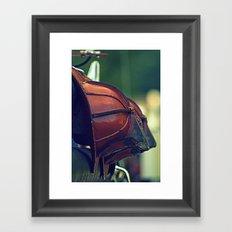 Vintage Fire Helmets Framed Art Print