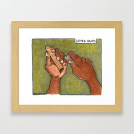 gifted hands Framed Art Print