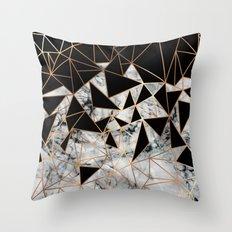 Marble polygon pattern Throw Pillow
