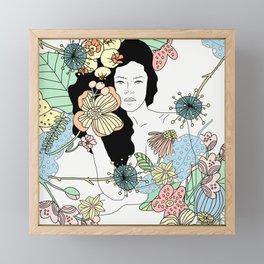 Flower Maiden Blossom Framed Mini Art Print
