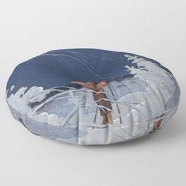 "Rudolf Koivu ""The Boy and the Star"" Floor Pillow"