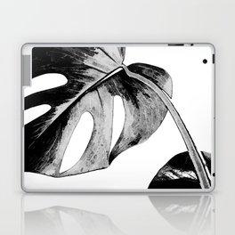 Black monstera leaves watercolor Laptop & iPad Skin