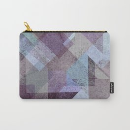 PLUM TURQUOISE ABSTRACT GEOMETRIC Carry-All Pouch