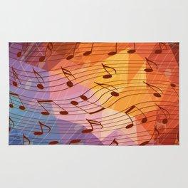 Music notes III Rug