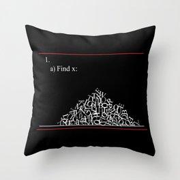 Math Problem Throw Pillow
