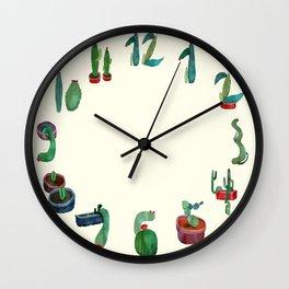 Clock Cactus Wall Clock