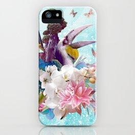 FLORAL HORNBILL / RIO iPhone Case