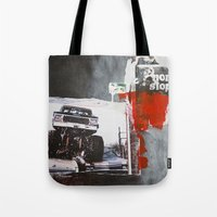 bigfoot Tote Bags featuring Bigfoot by six inch stiletto