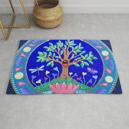 Tree of Love July Mandala Rug