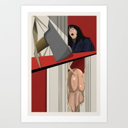 The Shining (with a penis) Art Print