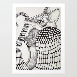 Ossabaw Natives : Armadillo Art Print