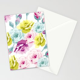 Spring flowers all over print gifts beautiful Stationery Cards