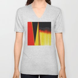 Points and Edges Abstract Unisex V-Neck