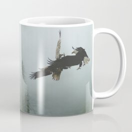Battle for the Cedars - Bald Eagles Wildlife Scene Coffee Mug