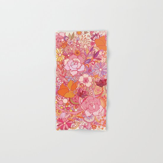 Detailed summer floral pattern Hand & Bath Towel