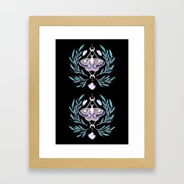 Moon Moth 01 Framed Art Print