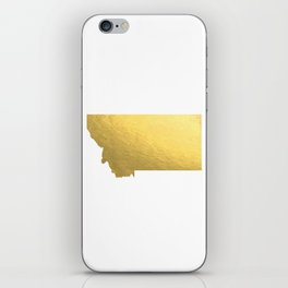 Montana State Printable Art Montana Art Printable Montana Map Printable Faux Gold Foil Printable Wal iPhone Skin