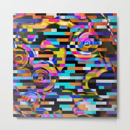 Upset The System - Where Arcs And Geometry Meet Abstract Artwork Metal Print
