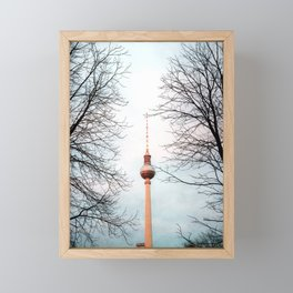 The Television Tower, Berlin Framed Mini Art Print