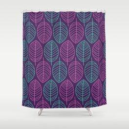 Leaf outlines Shower Curtain