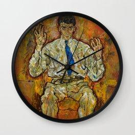Egon Schiele - Portrait of Paris von Gütersloh, 1918 Wall Clock