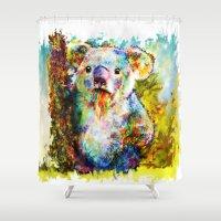 koala Shower Curtains featuring Koala  by ururuty