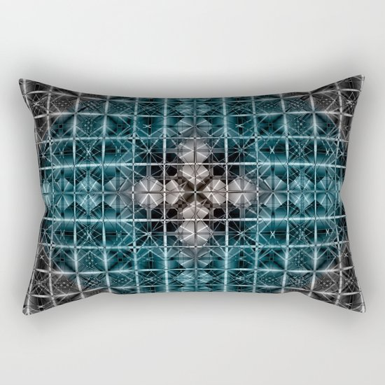 Abstract geometric BG Rectangular Pillow